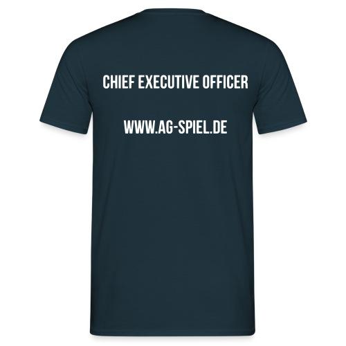 Shirt weißer Flock CEO - Männer T-Shirt