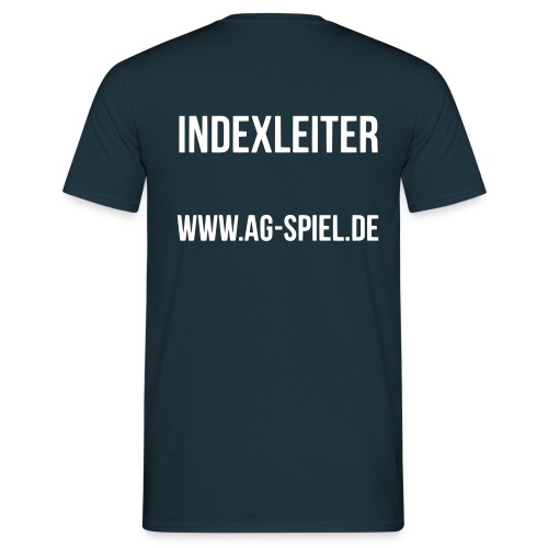 Shirt weißer Flock Indexleiter - Männer T-Shirt