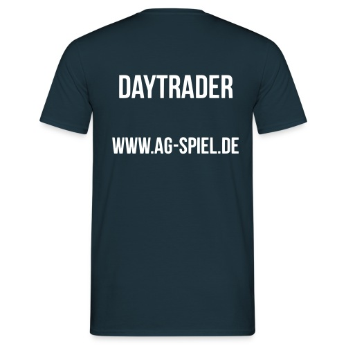 Shirt weißer Flock Daytrader - Männer T-Shirt