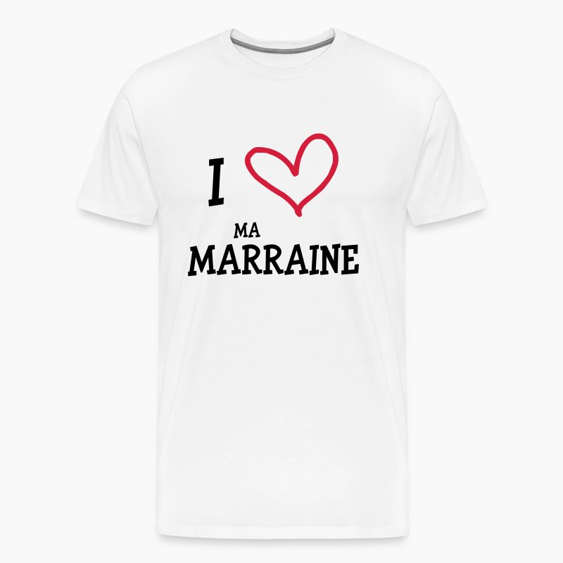 tee shirt i love ma marraine spreadshirt. Black Bedroom Furniture Sets. Home Design Ideas