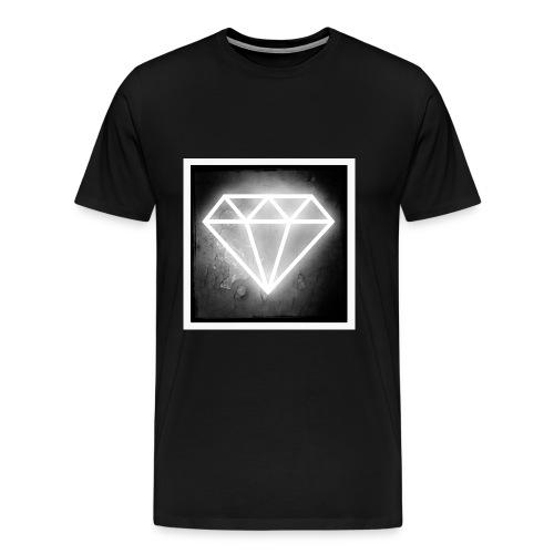 White Diamond1 - Premium-T-shirt herr