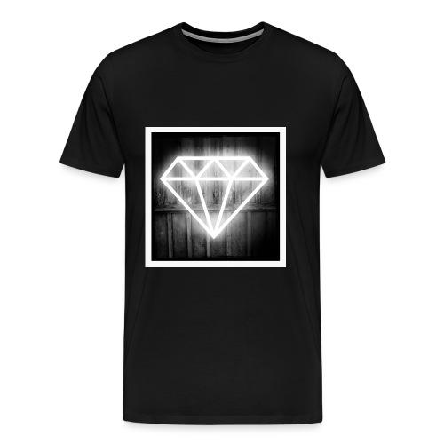 White Diamond2 - Premium-T-shirt herr