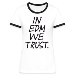 EDM Retro TS Woman Black - Women's Ringer T-Shirt