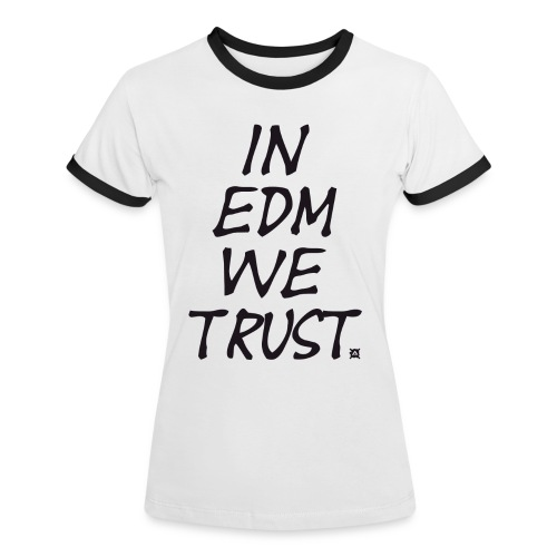 EDM Retro TS Woman Black - Women's Ringer T-Shirt