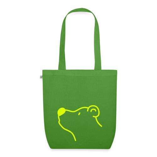 Grüner Bär Einkaufstasche - Bio-Stoffbeutel