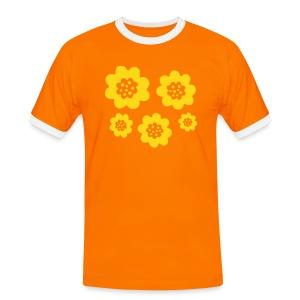RETRO T-shirts - Kontrast-T-shirt herr