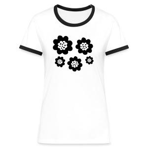 RETRO T-shirts - Kontrast-T-shirt dam