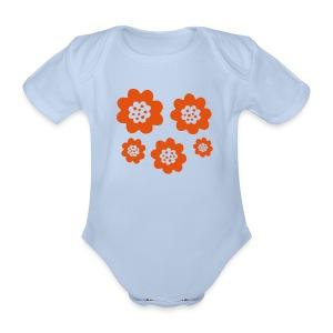 RETRO Babybody - Ekologisk kortärmad babybody