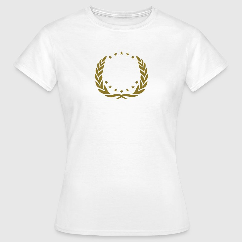 Couronne, laurier, gagnant, anniversaire, Hero, Tee shirts - T-shirt Femme