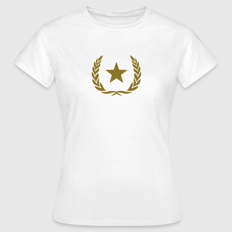 Kranz, Siegerkranz, Stern, Gold, Held, Sieger, Fun T-Shirts - Frauen T-Shirt