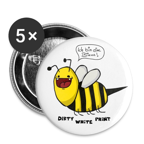 Biene Button - Buttons klein 25 mm