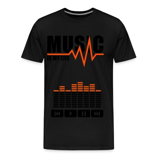 Music Is My Life - T-shirt Premium Homme