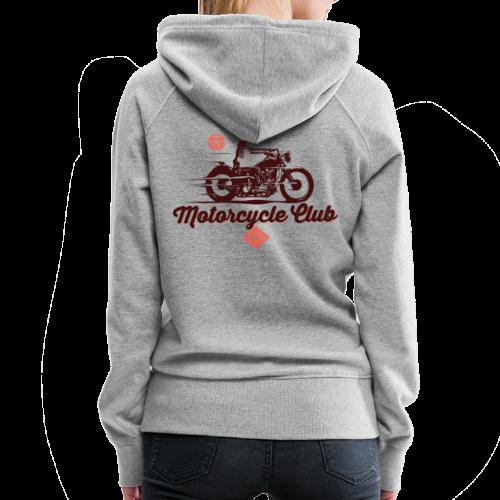 Motorcycle Club - Sweat-shirt à capuche Premium pour femmes