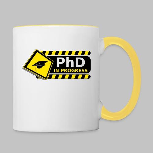 Tasse (mug) PhD in progress - Contrasting Mug