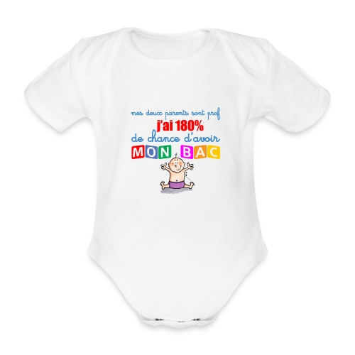 body bébé - 180% - Body bébé bio manches courtes
