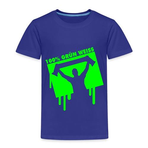 100% Grün-Weiss Kinder T-Shirt (Retro-Look) - Kinder Premium T-Shirt