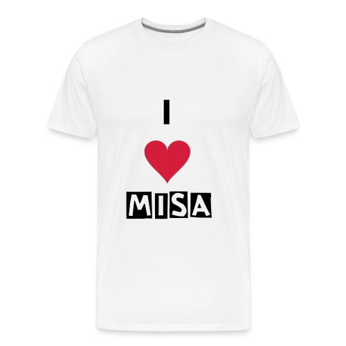 I Heart Misa Mens Shirt - Men's Premium T-Shirt