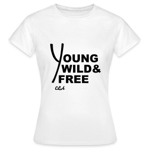 CROWN LUXURY 'YOUNG,WILD & FREE' T-SHIRT - Women's T-Shirt