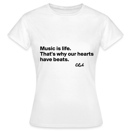 CROWN LUXURY 'MUSIC IS LIFE' T-SHIRT - Women's T-Shirt