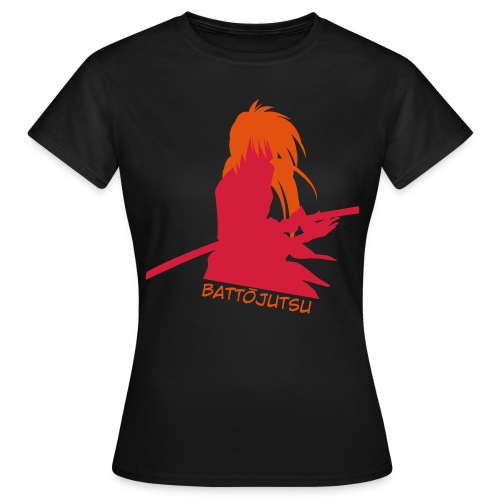 Battojutsu Kenshin - Black [Female] - Women's T-Shirt