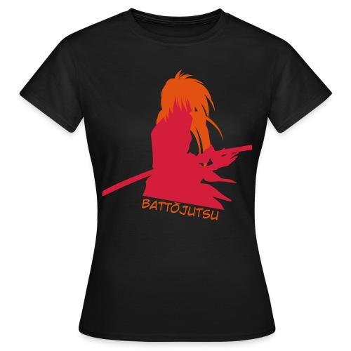 Battojutsu Kenshin - Black [Female] - Women's T-Shirt