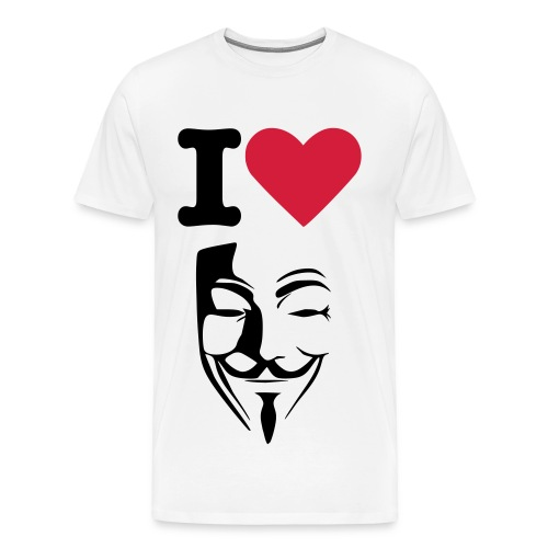 I love anonymous - T-shirt Premium Homme