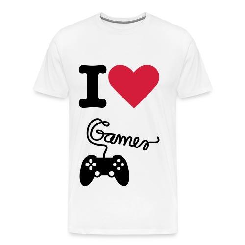 I love gaming - T-shirt Premium Homme