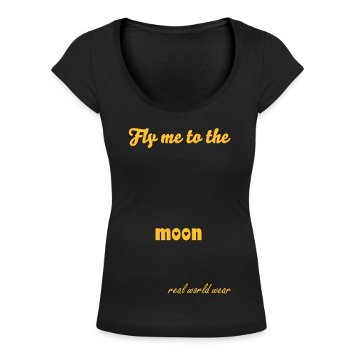 Fly me to the moon - Vrouwen T-shirt met U-hals
