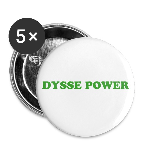DYSSE POWER  - Stora knappar 56 mm (5-pack)