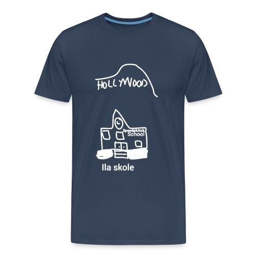 Ila skole - hvite streker - Premium T-skjorte for menn