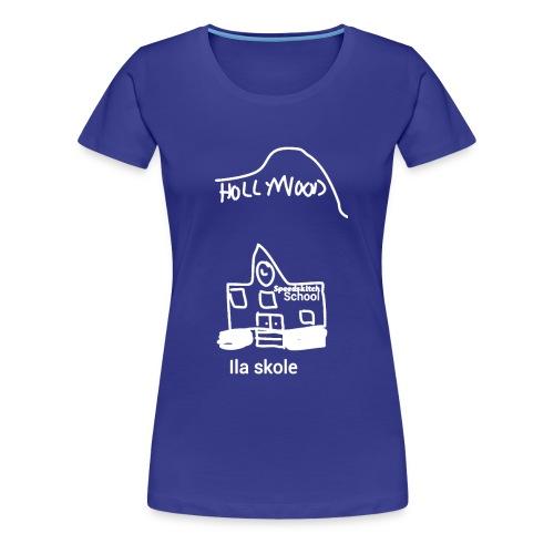 Ila skole - hvite streker - Premium T-skjorte for kvinner