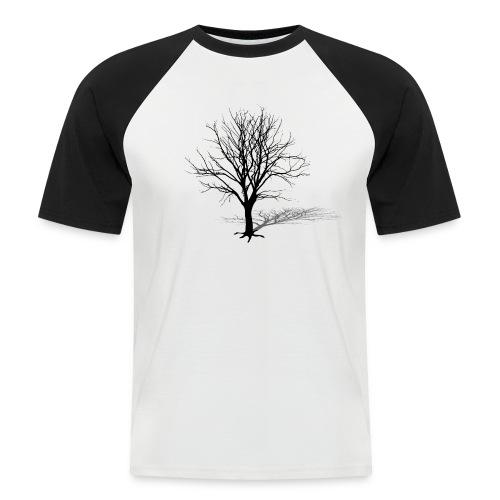 natur t-shirt baum silhouette winter schatten skelett tree - Männer Baseball-T-Shirt
