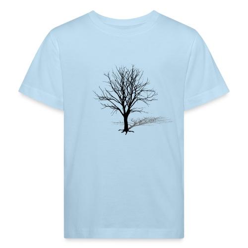 natur t-shirt baum silhouette winter schatten skelett tree - Kinder Bio-T-Shirt