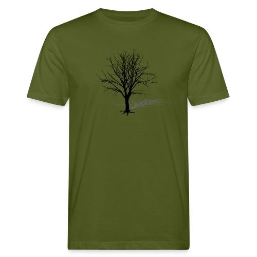 natur t-shirt baum silhouette winter schatten skelett tree - Männer Bio-T-Shirt