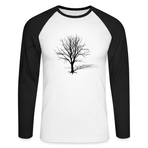 natur t-shirt baum silhouette winter schatten skelett tree - Männer Baseballshirt langarm