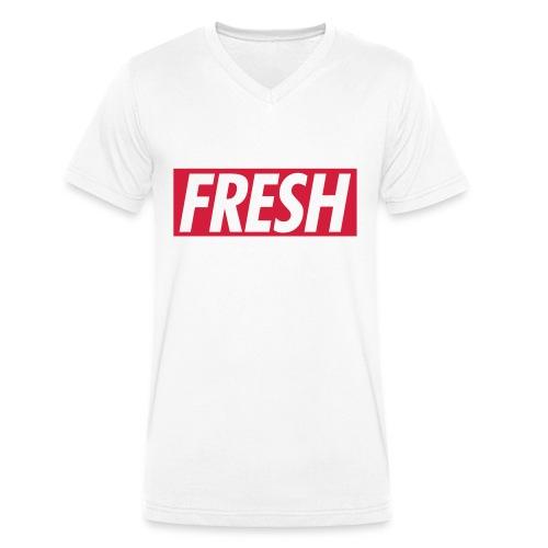 Fresh V-Kragen T-Shirt - Männer Bio-T-Shirt mit V-Ausschnitt von Stanley & Stella