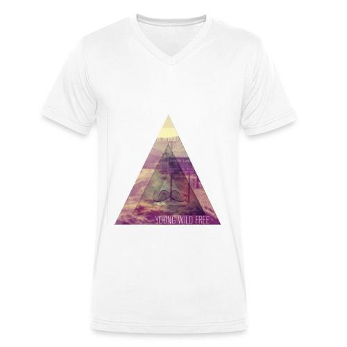 Young Wild Free V-Kragen T-Shirt - Männer Bio-T-Shirt mit V-Ausschnitt von Stanley & Stella