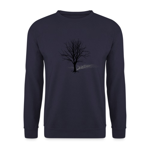 natur t-shirt baum silhouette winter schatten skelett tree - Männer Pullover