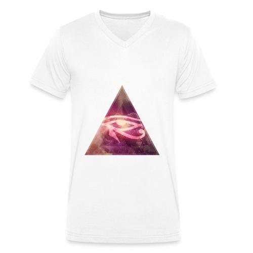 Illu V-Kragen T-Shirt - Männer Bio-T-Shirt mit V-Ausschnitt von Stanley & Stella