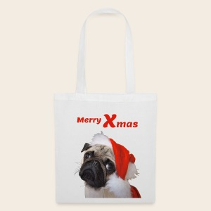 Merry Xmas Mops Stofftasche - Stoffbeutel