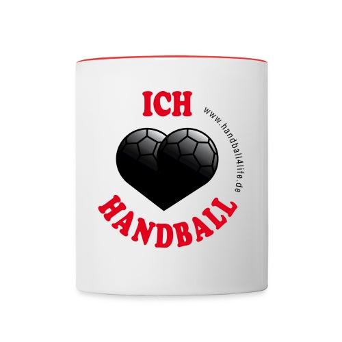 Tasse Ich liebe Handball - Tasse zweifarbig