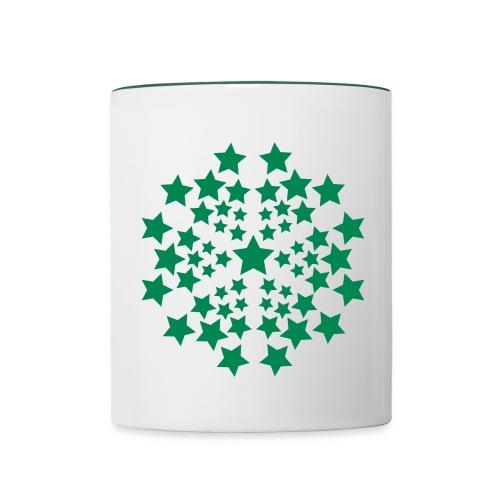 Tasse étoiles - Mug contrasté