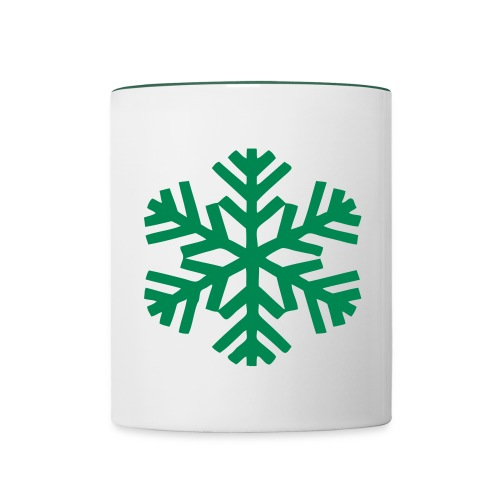 Tasse flocon - Mug contrasté