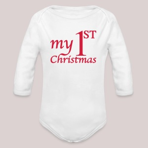 Babybody : My First Christmas - Babys erstes Weihnachten - Mein erstes Weihnachten - Baby Bio-Langarm-Body