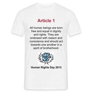 Human Rights Shirt - Article 1 - Men's T-Shirt
