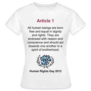 Human Rights Shirt - Article 1 - Women's T-Shirt