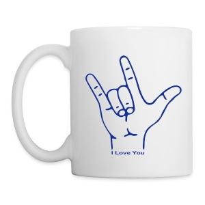 Fingerzeichen ILY - Tasse - Tasse