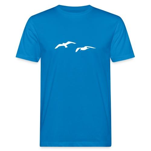 tier t-shirt möwe möwen sea gull seagull hafen beach harbour - Männer Bio-T-Shirt