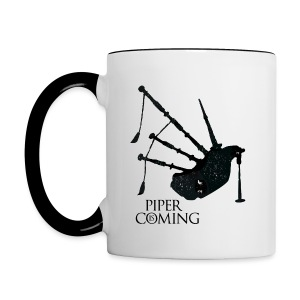 Piper is coming - Mug - Contrasting Mug