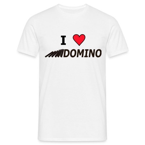 I love Domino - Männer T-Shirt